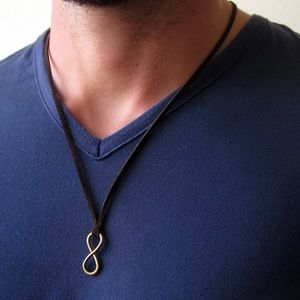 925 Infinity Leather Necklace